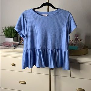 Lauren Conrad blue blouse